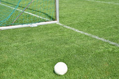 Soccer field and goal Stock Photo