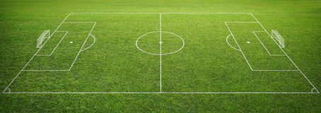 Soccer field with goal post Royalty Free Stock Photography