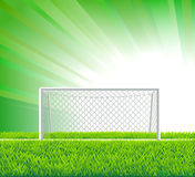 Soccer field with goal. Soccer field with realistic goal and grass Royalty Free Stock Images