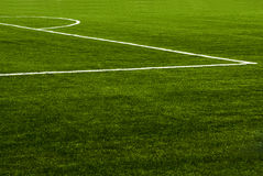 Soccer field grass. A detail of a soccer field grass Royalty Free Stock Images