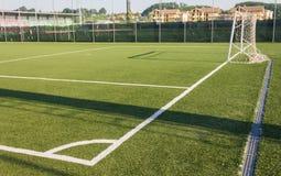 Soccer field grass Stock Photography