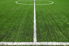 Soccer field grass with ball. Soccer field grass Euro 2012 for news Royalty Free Stock Photo