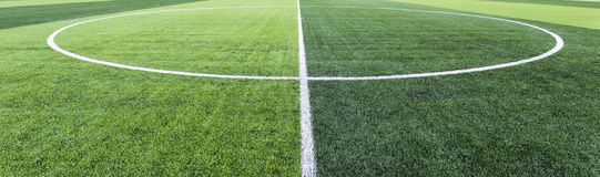 Soccer field grass. Center point Royalty Free Illustration