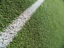Soccer field grass on the green. Soccer field grass line on the green Royalty Free Stock Image