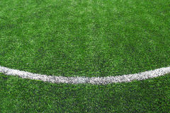 Soccer field grass. Soccer field line grass background Royalty Free Stock Images