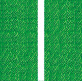 Soccer field grass line Stock Images