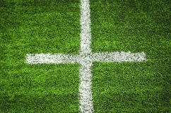 Soccer field grass striped. Soccer field grass white striped Royalty Free Stock Image