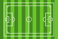 Soccer field. With green in background Royalty Free Stock Photos