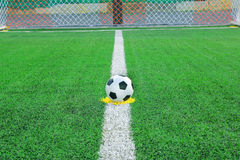 Soccer field on green field Royalty Free Stock Images