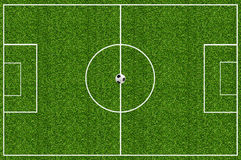 Soccer field green grass Royalty Free Stock Image