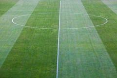 Soccer field. Green natural grass of a Football soccer field Stock Image