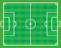 Soccer field . Stock Image