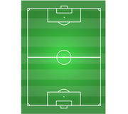 Soccer field horizontal Royalty Free Stock Photo