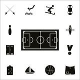 Soccer field icon. Detailed set of Sport icons. Premium quality graphic design sign. One of the collection icons for websites, web royalty free illustration