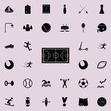Soccer field icon. Sport icons universal set for web and mobile. On colored background vector illustration