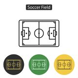 Soccer field icon. Vector. Royalty Free Stock Image