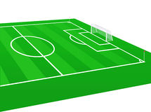 Soccer field  illustration. Stock Images