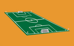 Soccer field illustration Royalty Free Stock Photography