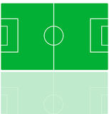 Soccer field. Illustration of a soccer field Royalty Free Stock Images