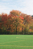 Soccer Field In Autumn Stock Photo