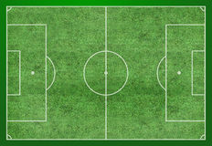 Soccer Field Layout. A professional soccer field layout, based on Fifa's standard measurements Stock Photo