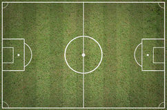 Soccer field layout Royalty Free Stock Photography