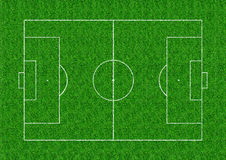 Soccer field layout on green grass background Stock Photography