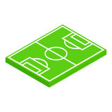 Soccer field layout isometric 3d icon Royalty Free Stock Images