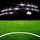 Soccer field with light Royalty Free Stock Photo