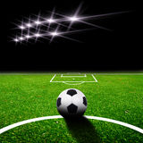 Soccer field with light Stock Image