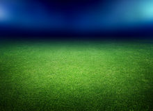 Soccer field and lights Stock Images