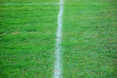 Soccer field line Royalty Free Stock Photography