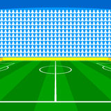 Soccer field with Line and Grass Texture. Illustration Royalty Free Stock Image