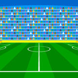 Soccer field with Line and Grass Texture royalty free illustration