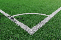 Soccer Field Lines Royalty Free Stock Photography