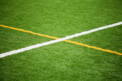 Soccer Field Lines Stock Photo