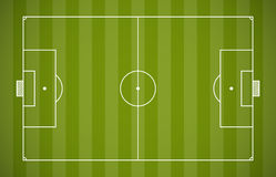 Soccer field lining. Template on green background Royalty Free Stock Image