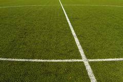 Soccer Field Marking Royalty Free Stock Photo