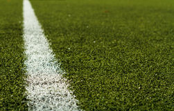 Soccer Field Marking Royalty Free Stock Photography