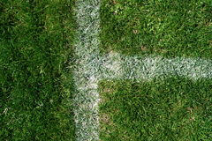 Soccer field markings grungy grunge Royalty Free Stock Photos