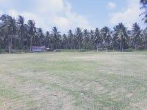 Soccer field, Natuna, Indonesia royalty free stock photo