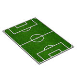 Soccer field orthographic view. 3d model of a soccer field (3d render Stock Photography