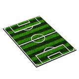 Soccer field orthographic view. 3d model of a soccer field (3d render Royalty Free Stock Images