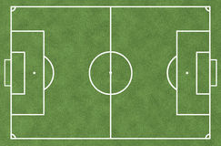 Soccer Field From Top View Royalty Free Stock Photos