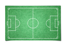 Soccer field paper Stock Images