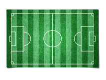 Soccer field paper Stock Image