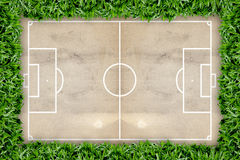 Soccer field pattern on grunge paper Stock Photo