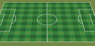 Soccer field perspective view. Vector Royalty Free Stock Photo