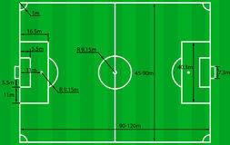 Soccer field plan vector Royalty Free Stock Photo