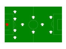 Soccer field with players Royalty Free Stock Image